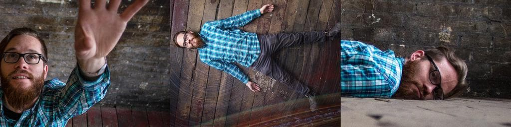 Some photographs of Damon looking like a fucking hipster lying on the floor
